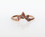 Sunburst Ring Gold Round