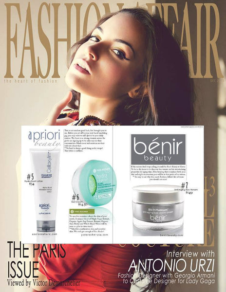Fashion Affair Magazine rates BV-9 Bee Venom Cream