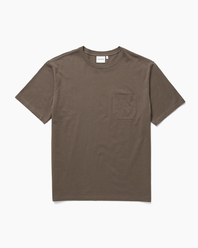 Men's Pima Crew Pocket Tee | Bitter Brown | Richer Poorer