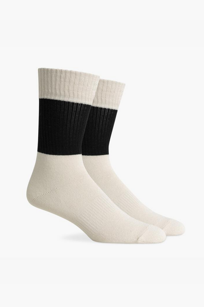 Rigby Socks | Black + White | Richer Poorer