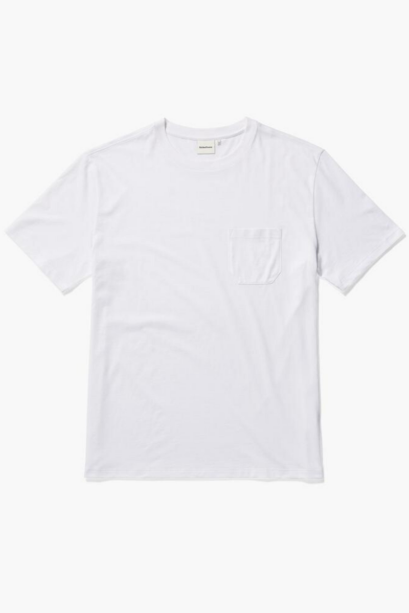 Men's Pima Crew Pocket Tee | White | Richer Poorer