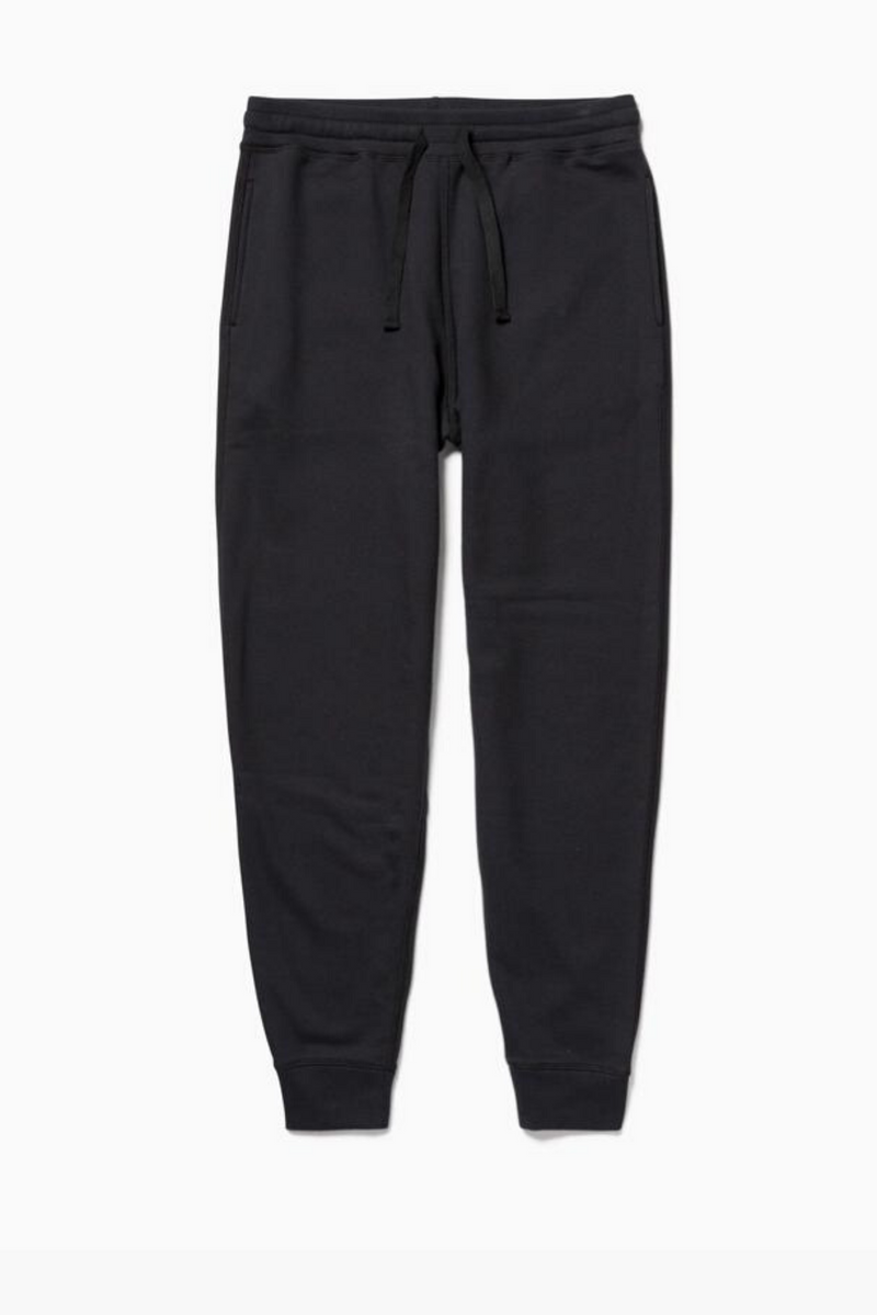 Men's Fleece Sweatpants | Black | Richer Poorer