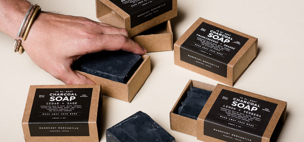 Ye Ol' Goat Charcoal Soap | Frankincense + Orange | Manready Mercantile - Manready Mercantile