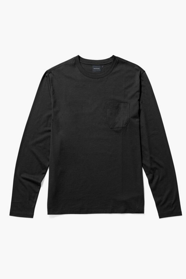 Long Sleeve Men's Pocket Tee | Stretch Limo | Richer Poorer - Manready Mercantile