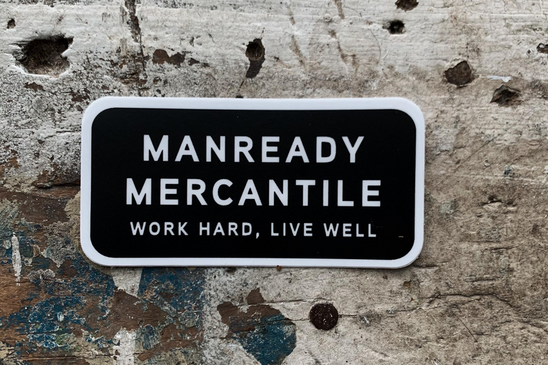 Sticker | Manready Mercantile | Black + White | Manready Mercantile
