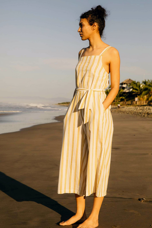 Women's Canyon Jumpsuit | Yellow Stripe | Mollusk - Manready Mercantile