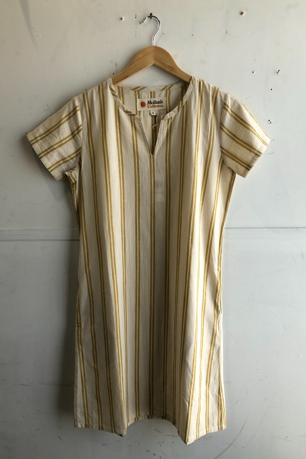 Women's Playa Dress | Yellow Stripe | Mollusk - Manready Mercantile