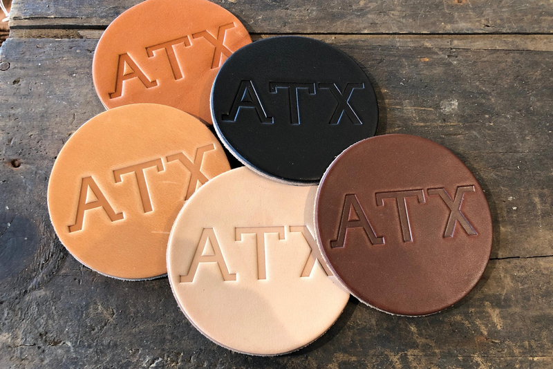 Leather Coaster | ATX | Manready Mercantile