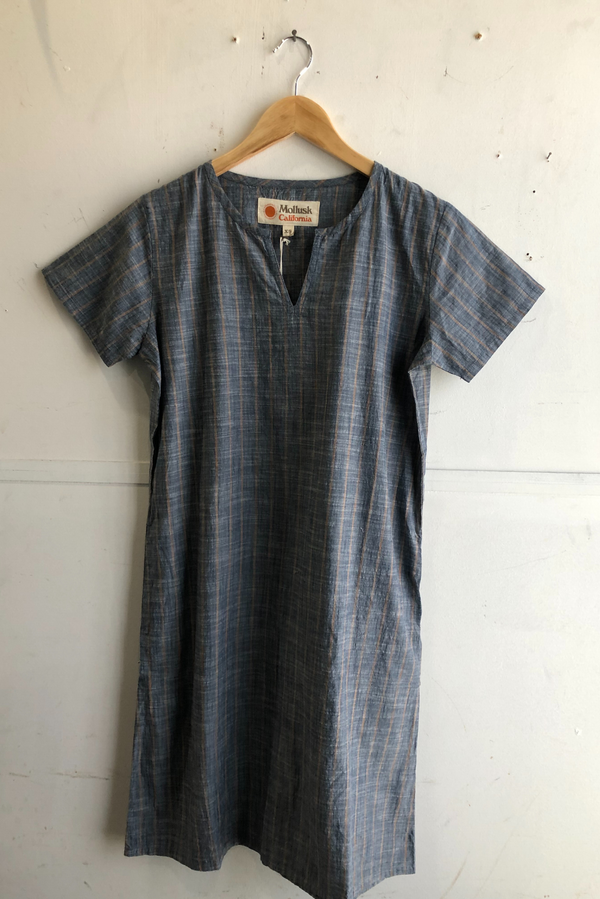 Women's Playa Dress | Charcoal Stripe | Mollusk - Manready Mercantile