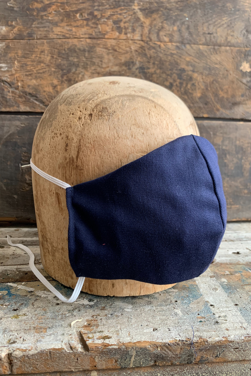 Face Mask | Navy American Cotton | KIT on 19th - Manready Mercantile