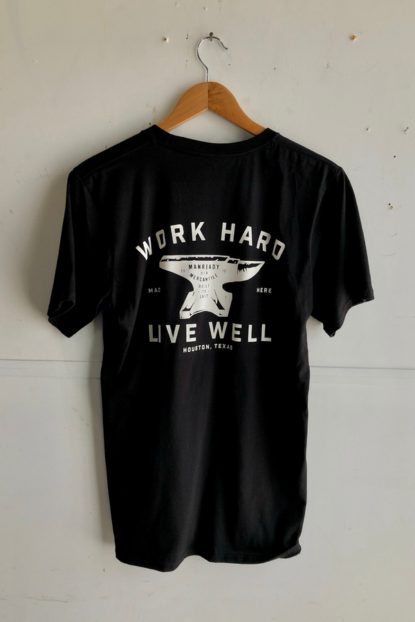Graphic Tee | Anvil | Black | Royal Apparel x Manready Mercantile