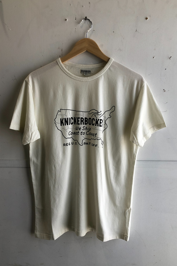 Coast to Coast T-Shirt | Milk | Knickerbocker - Manready Mercantile