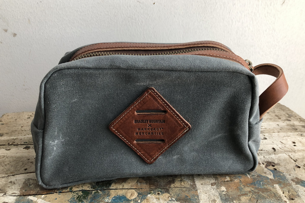Waxed Canvas Dopp Kit V2 | Charcoal | Bradley Mountain x Manready Mercantile - Manready Mercantile