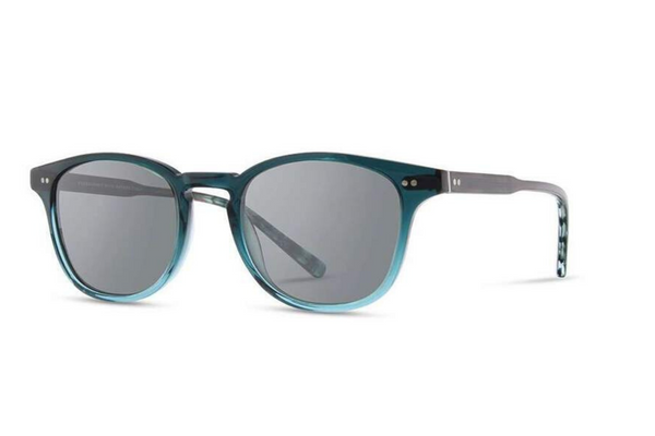 Kennedy Acetate Sunglasses | Deep Sea Grey Polarized | Shwood - Manready Mercantile