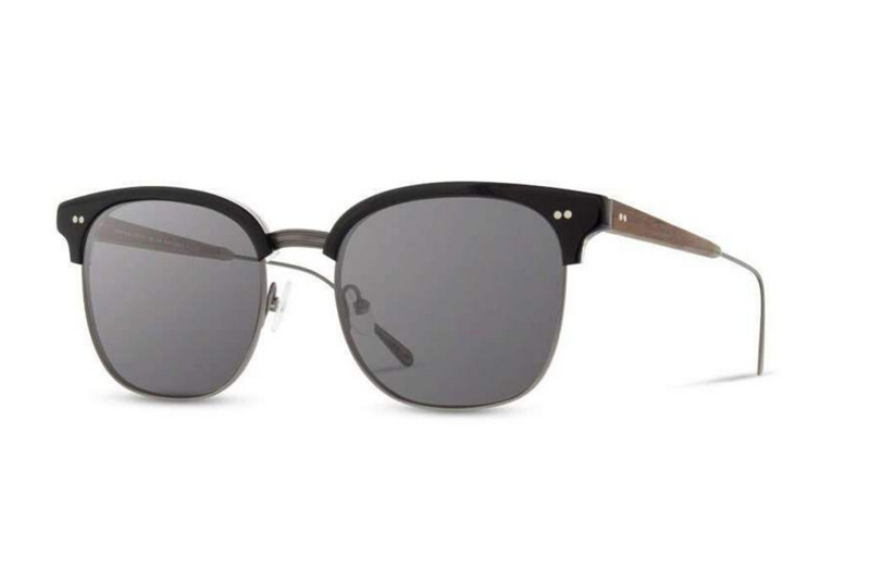 Foster Acetate Sunglasses | Black Walnut Grey | Shwood