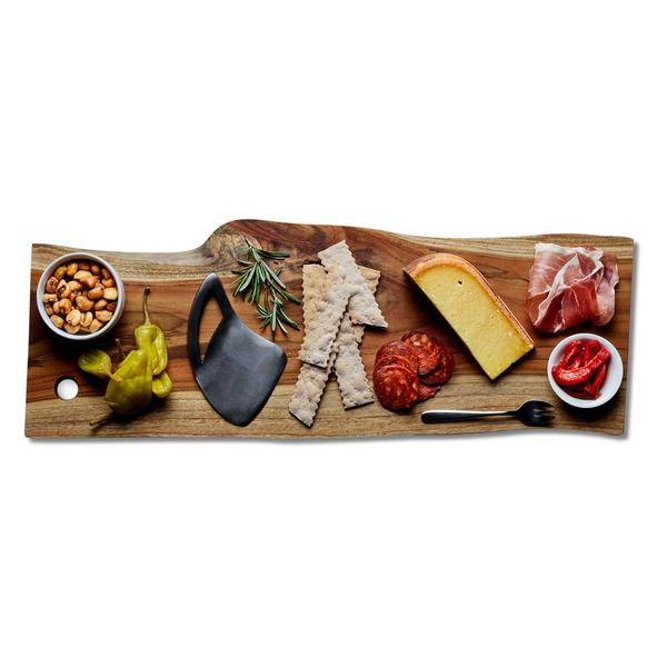 "24"" Sustainable Teak Wood Serving Board 
