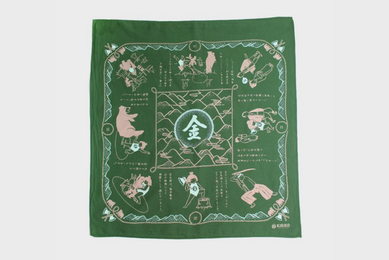 Two-Tone Bandana | Green | Kiriko