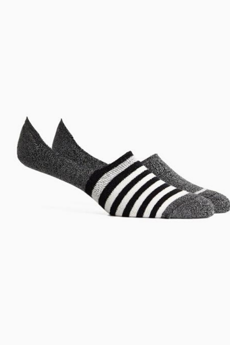 Theo 2 Pack No Show Sock | Black Ivory | Richer Poorer - Manready Mercantile