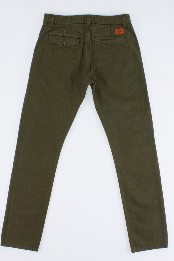 Workers Chino Slim Straight | Army | Freenote Cloth