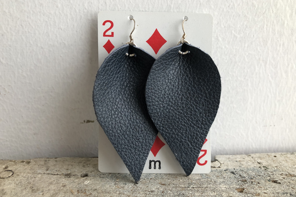 Women's Re-purposed Leather Earrings | Megan Turner - Manready Mercantile