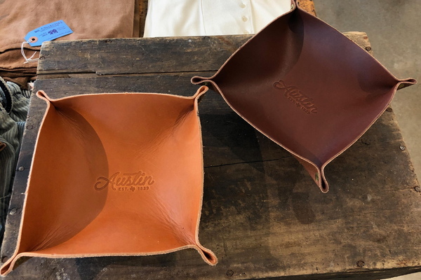 Leather Valet Tray | Austin Rope | Manready Mercantile