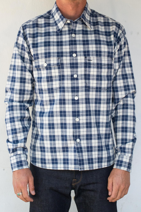 Mariner Shirt | Blue Plaid | Freenote Cloth