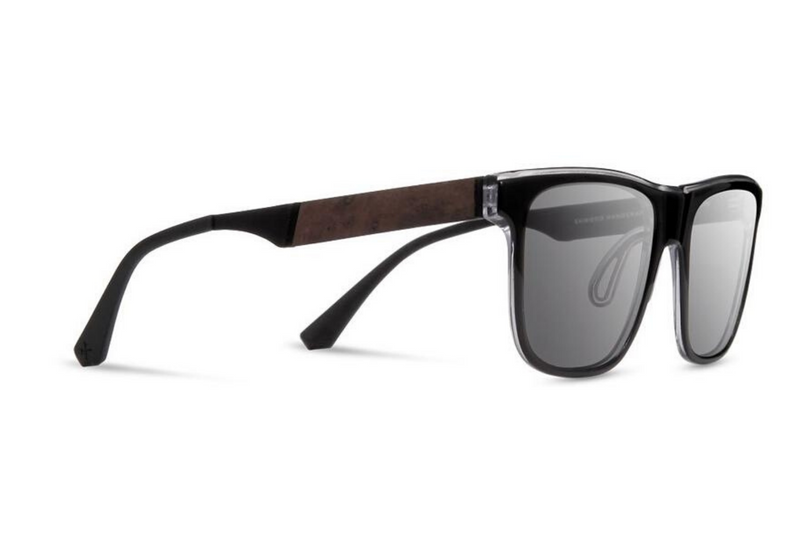 Monroe ACTV Sunglasses | Black Crystal Elm Burl Grey Polarized | Shwood - Manready Mercantile