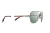Redmond Metal Sunglasses | Black Chrome Mahogany G15 Polarized | Shwood - Manready Mercantile
