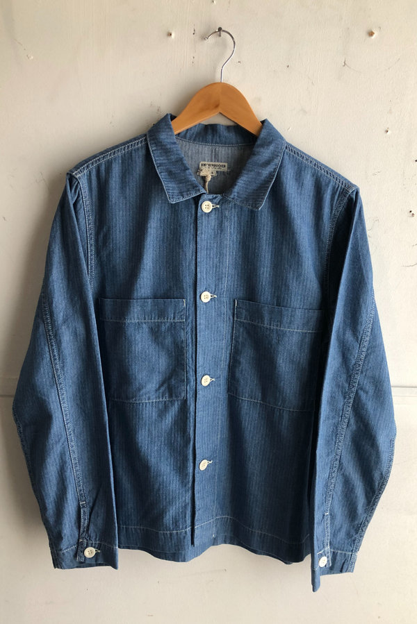 Chore Shirt | Medium Stonewash Fisher Stripe | Knickerbocker - Manready Mercantile