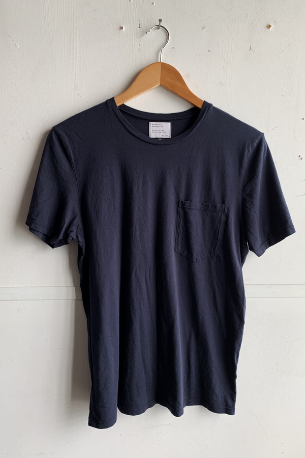 Basic Pocket Tee | Dark Blue | Manready Mercantile