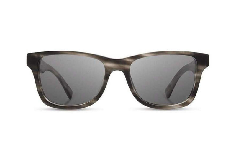Canby Acetate Sunglasses | Matte Grey Elm Burl Grey | Shwood