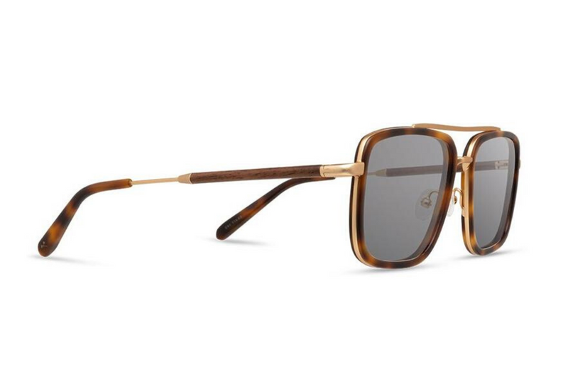 Grant Acetate Sunglasses | Matte Brindle Walnut Grey | Shwood