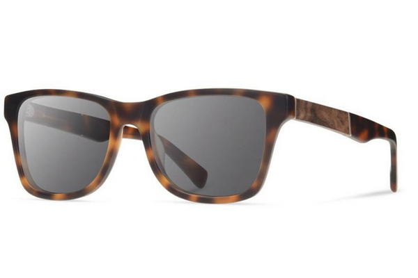 Canby XL Acetate Sunglasses | Matte Brindle Elm Burl Grey Polarized | Shwood - Manready Mercantile