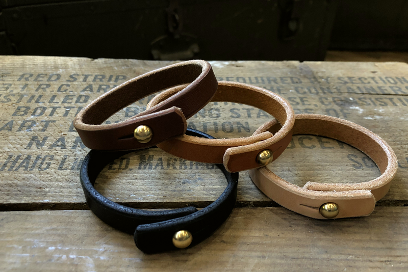 Leather Cuff with Solid Brass Hardware | Manready Mercantile