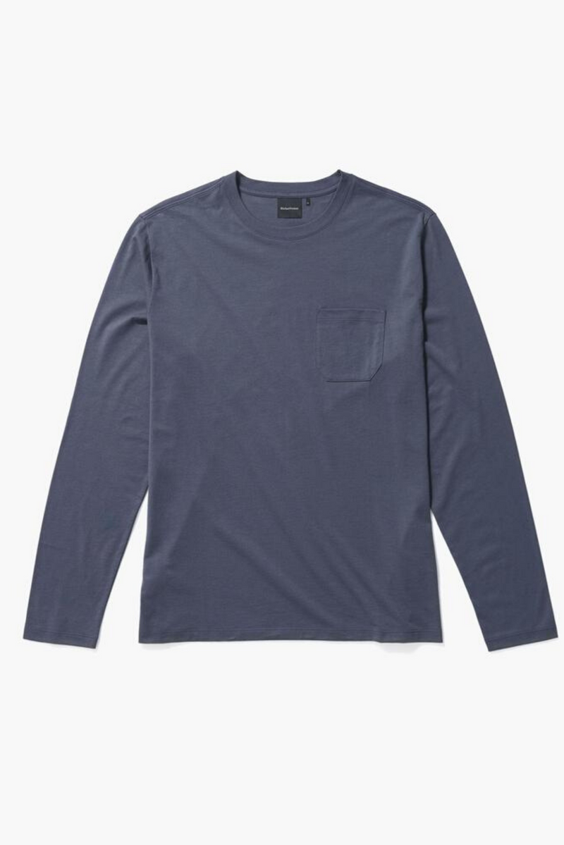 Long Sleeve Men's Pocket Tee | Blue Nights | Richer Poorer - Manready Mercantile