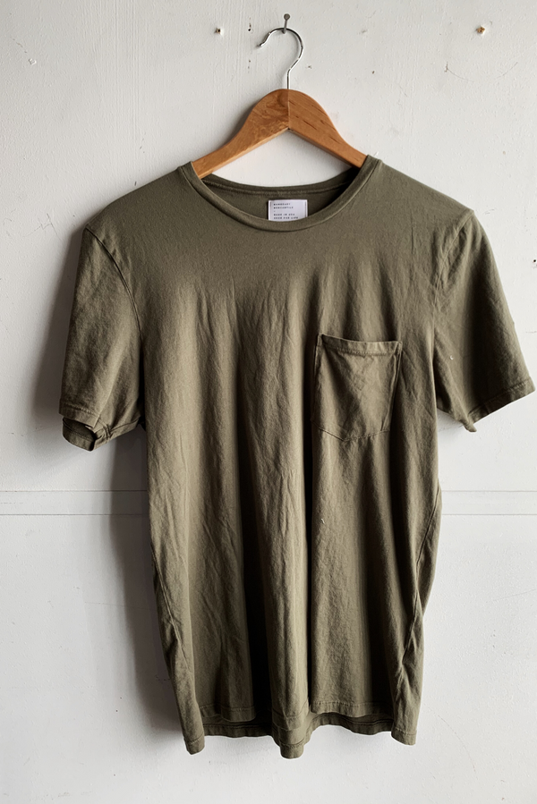 Manready Mercantile Basic Pocket Tee in Hunter Green available at manready.com