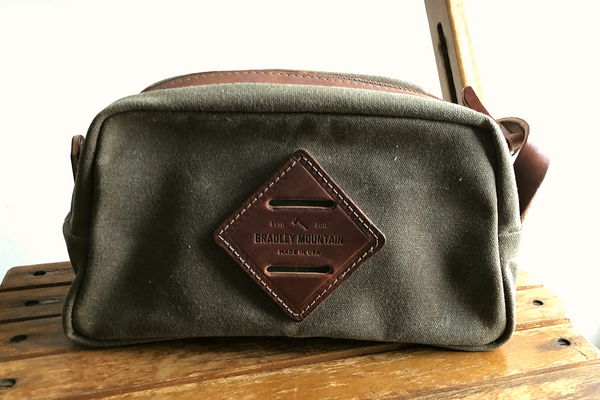 Waxed Canvas Dopp Kit V2 | Field Tan | Bradley Mountain