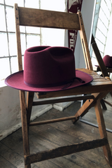 Mountain Lion Hat | Burgundy | Kennimer