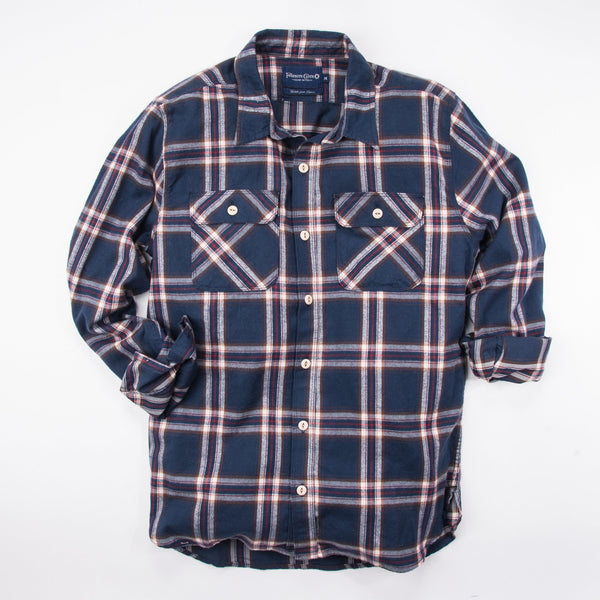 Jepson Shirt | Navy | Freenote Cloth