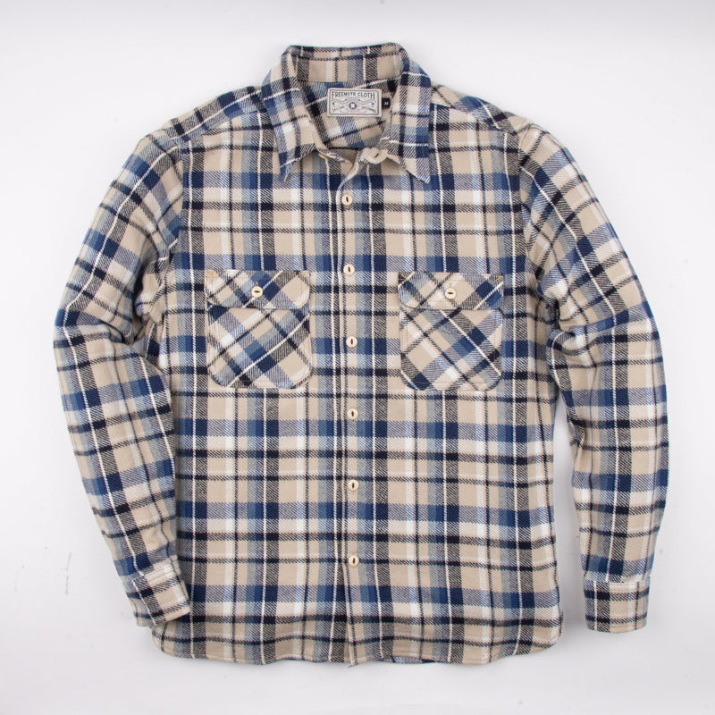 Benson Shirt | Sunrise Plaid | Freenote Cloth
