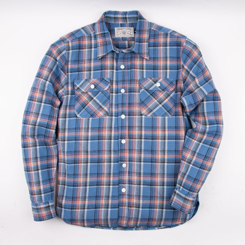 Jepson Shirt | Blue Plaid | Freenote Cloth
