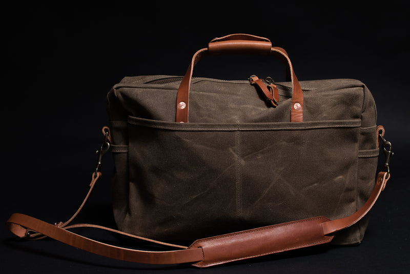 Bradley Mountain Courier Briefcase in Field Tan available at manready.com