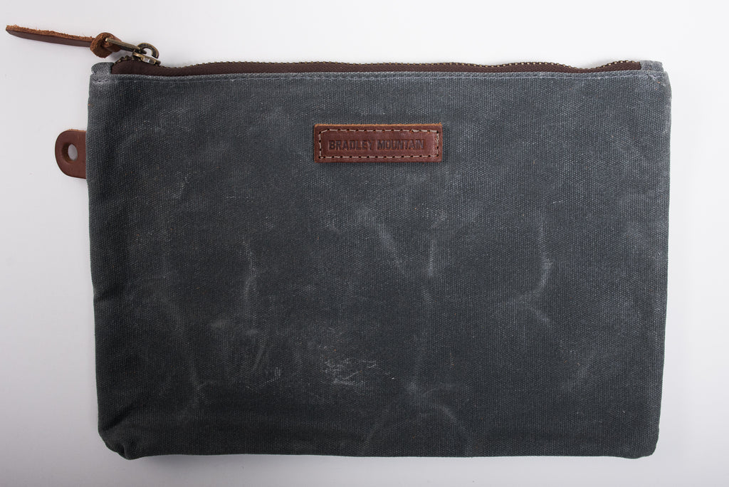 Bradley Mountain Folio Pouch Charcoal Waxed Canvas Accessories Travel Manready Mercantile