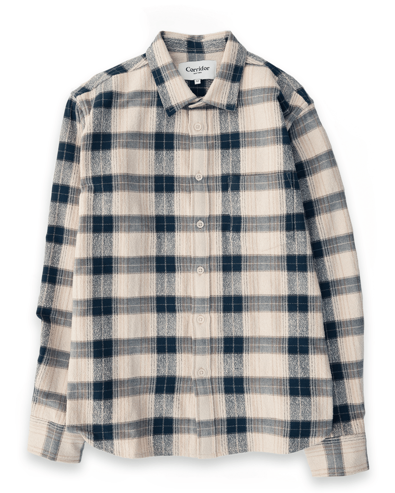 Capricorn Plaid Shirt | Taupe | Corridor