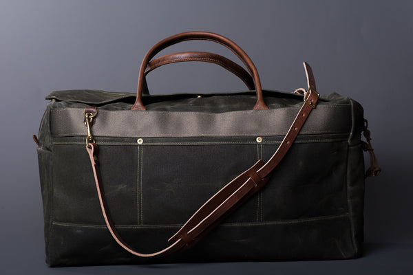 Grand Tourer Duffle in Olympic Moss by Wood & Fault available at Manready Mercantile