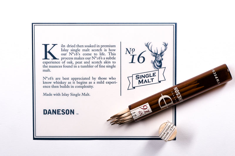 No. 16 Single Malt Scotch Whiskey Soaked Toothpicks | Daneson - Manready Mercantile