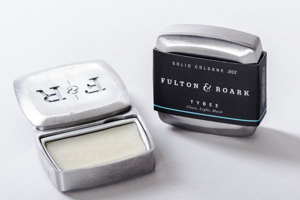 Fulton & Roark Tybee Solid Cologne available at Manready Mercantile