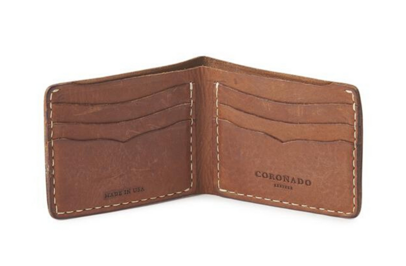 Vintage Stone-Washed Wallet No.623 | Coronado Leather - Manready Mercantile