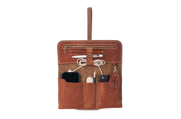 Vintage Coronado Leather Stone Washed Roll Utility #962 in Chestnut available at Manready Mercantile and manready.com