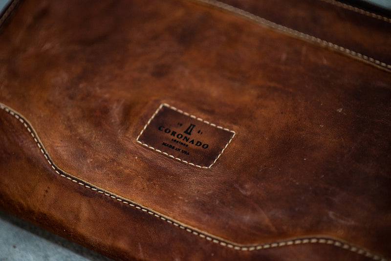 Vintage Stone Washed Folio #119 | Coronado Leather - Manready Mercantile